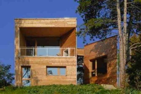 casa de madera y corcho extremadura architects