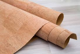 Fabrics and cork paper for interior designers