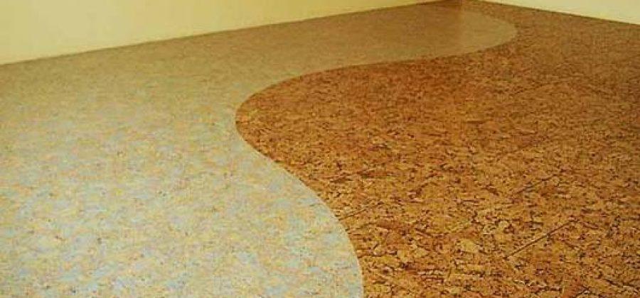 El suelo de corcho aislante